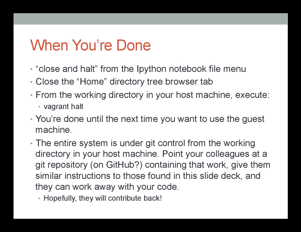 """When You're Done • """"close and halt"""" from the I..."""