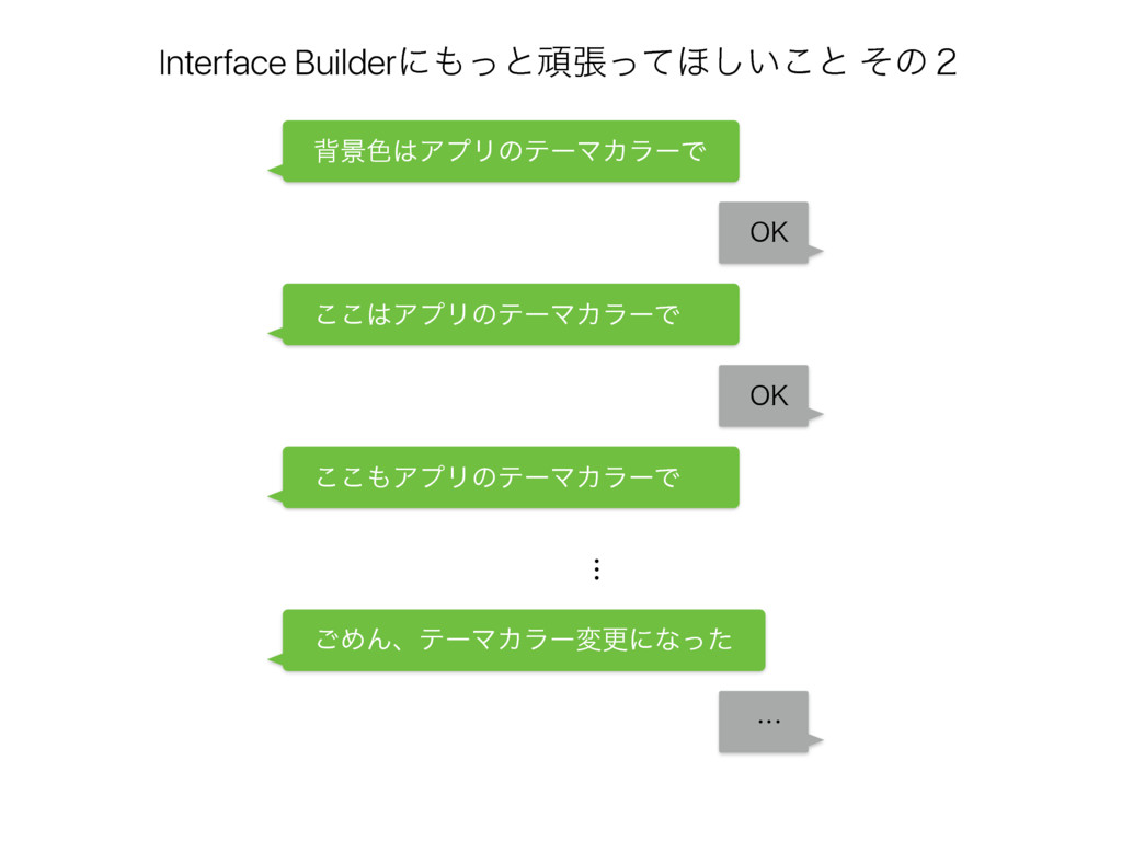 Interface Builderʹͬͱؤுͬͯ΄͍͜͠ͱ ͦͷ̎ ɹഎܠ৭ΞϓϦͷςʔϚ...