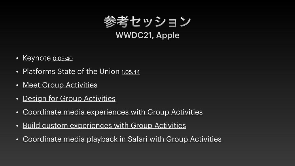 ߟηογϣϯ WWDC21, Apple • Keynote 0:09:40   • Pla...