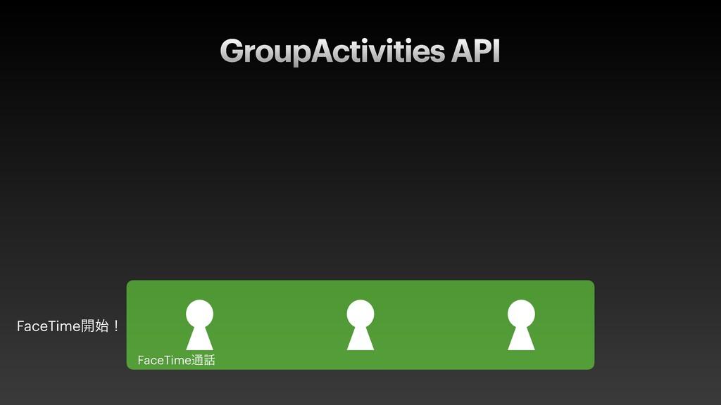 GroupActivities API FaceTime։ʂ FaceTime௨