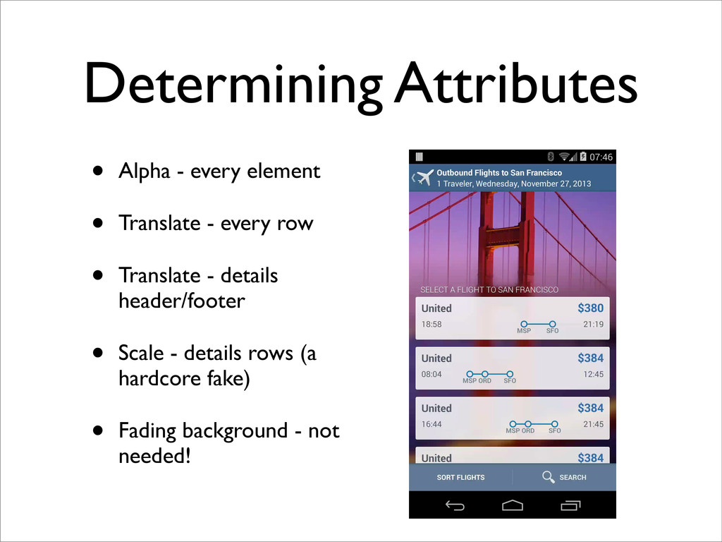 Determining Attributes • Alpha - every element ...