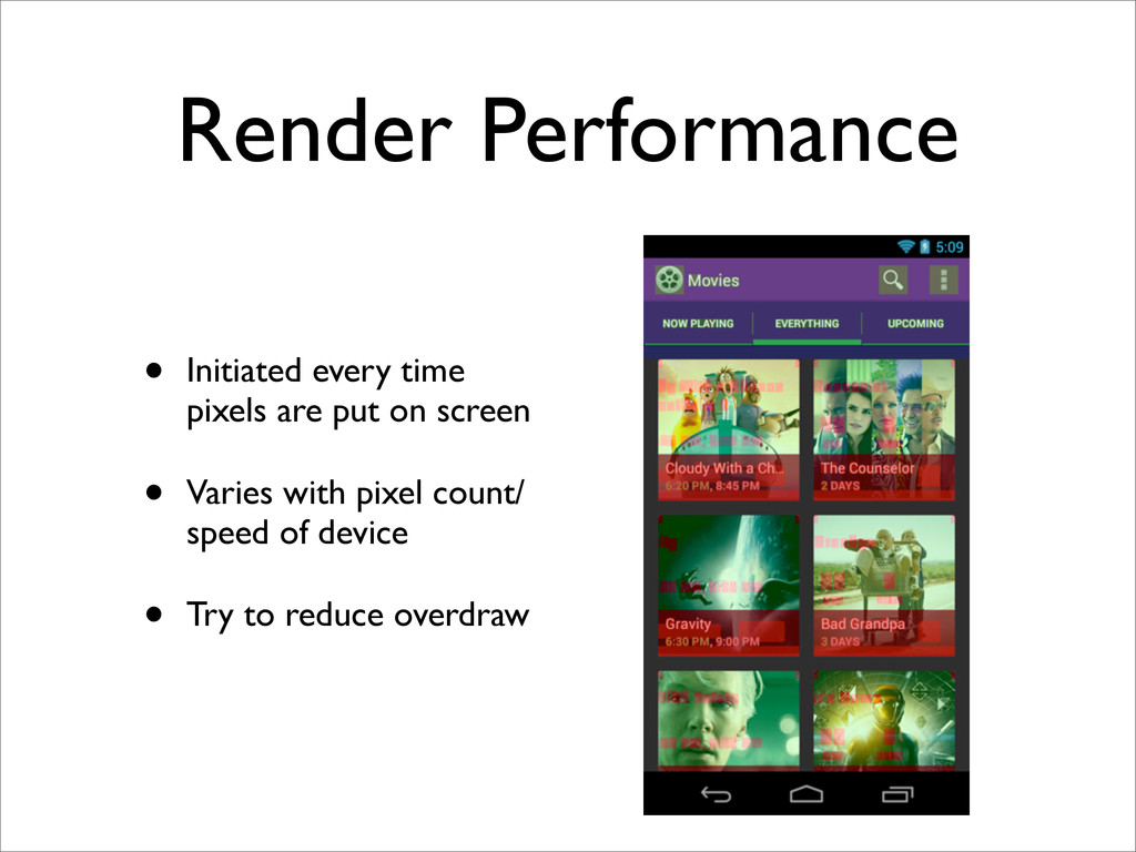 Render Performance • Initiated every time pixel...