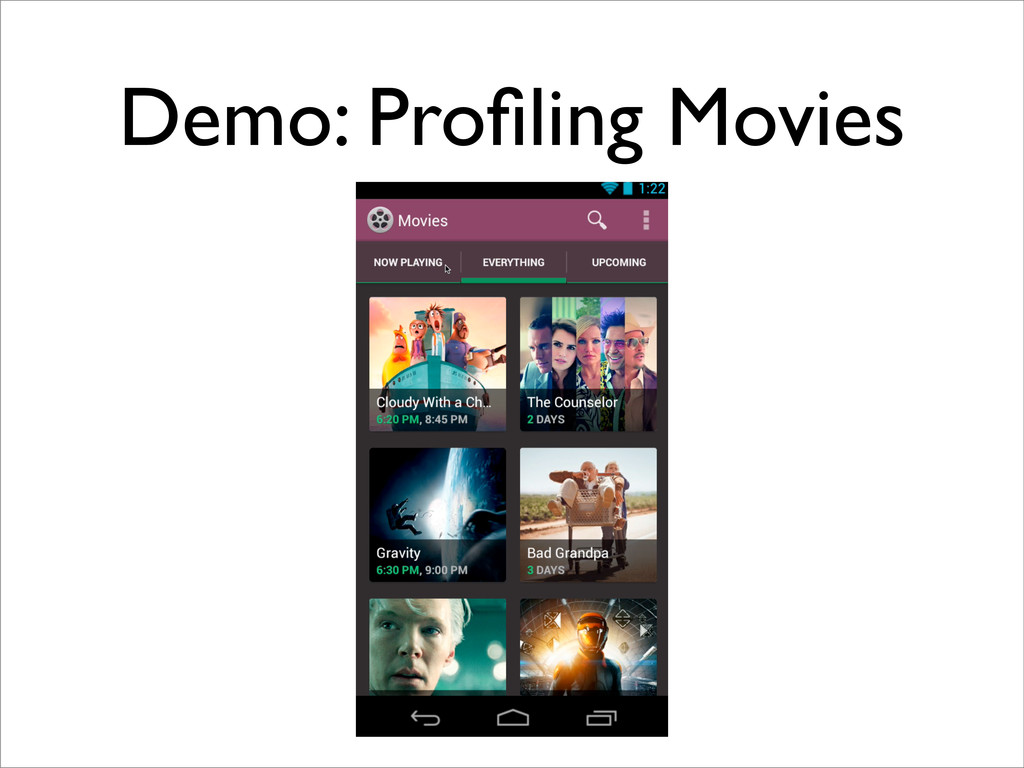 Demo: Profiling Movies