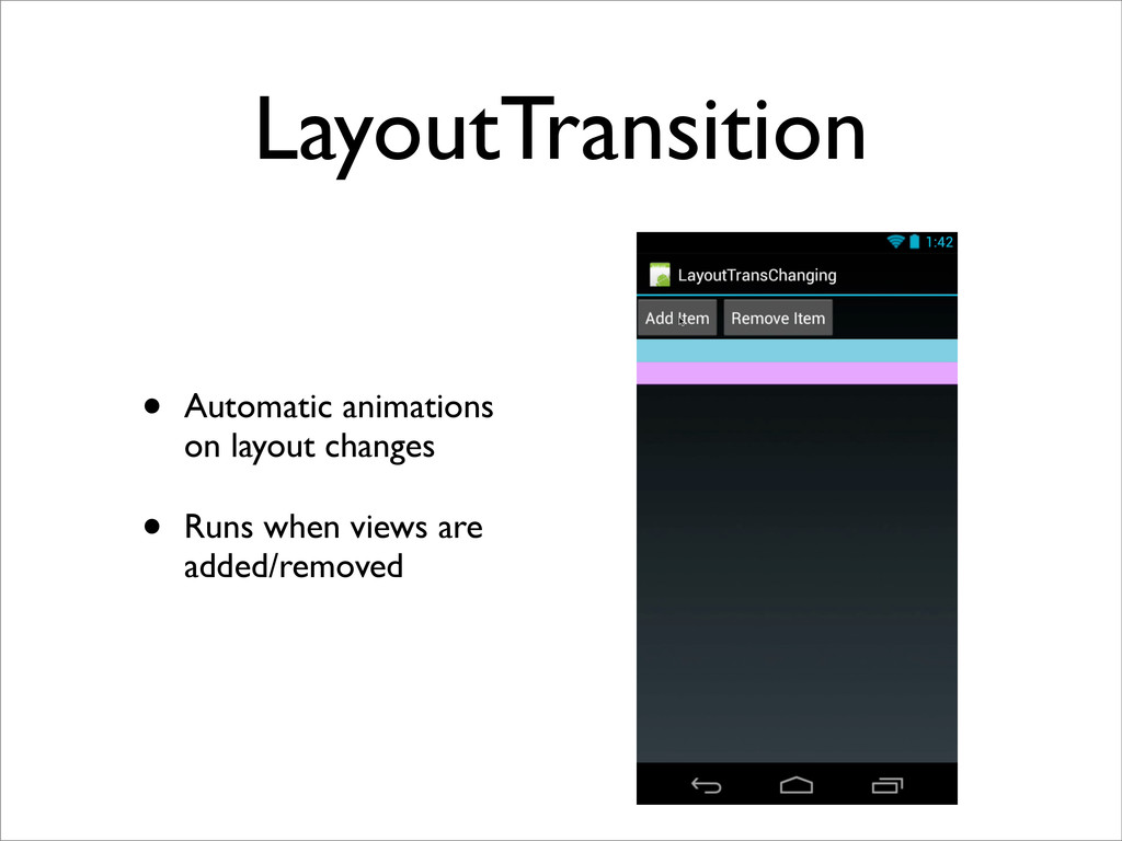 LayoutTransition • Automatic animations on layo...