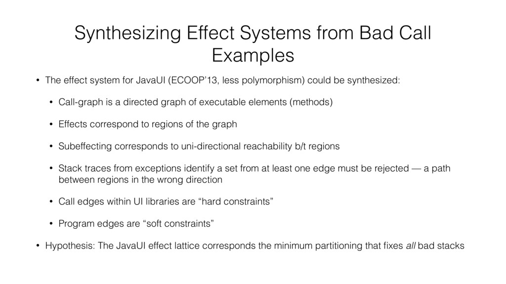 Synthesizing Effect Systems from Bad Call Examp...