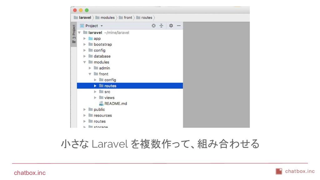 chatbox.inc 小さな Laravel を複数作って、組み合わせる
