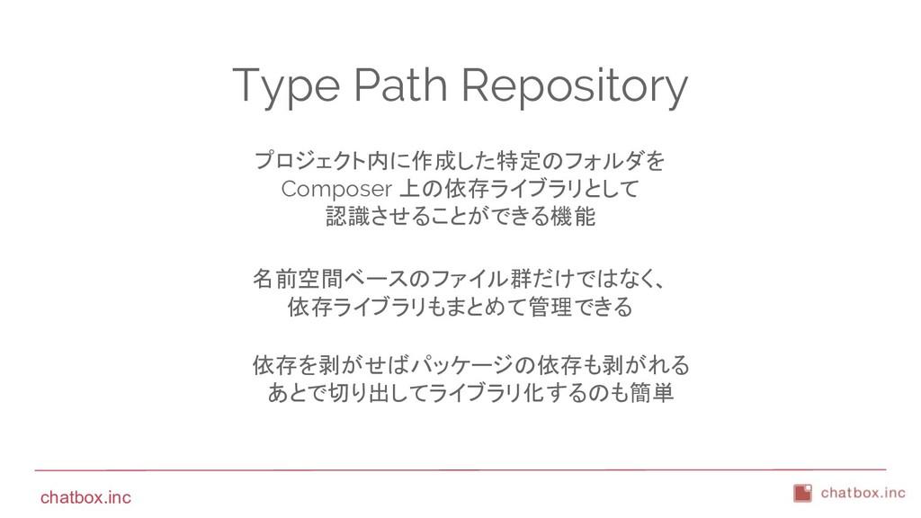 chatbox.inc Type Path Repository プロジェクト内に作成した特定...