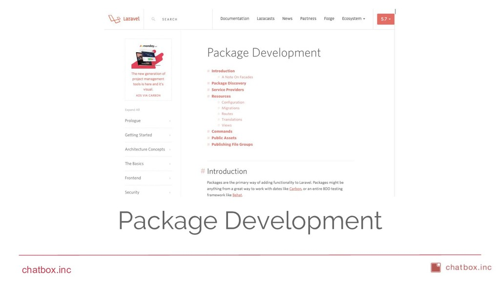 chatbox.inc Package Development