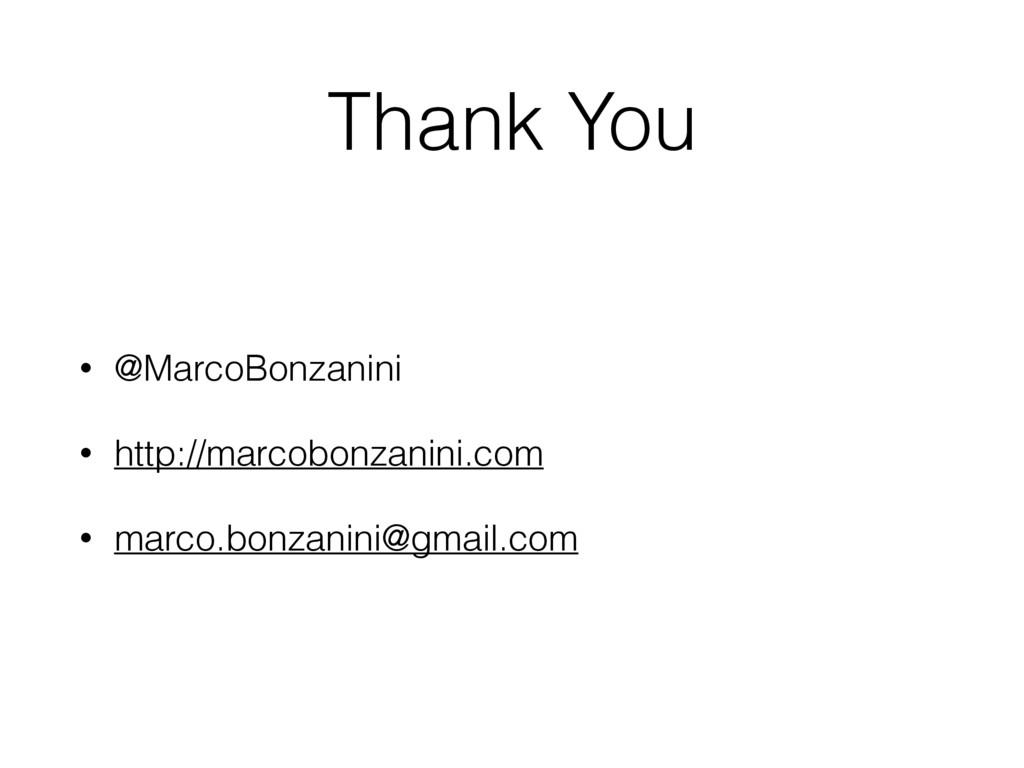 Thank You • @MarcoBonzanini • http://marcobonza...