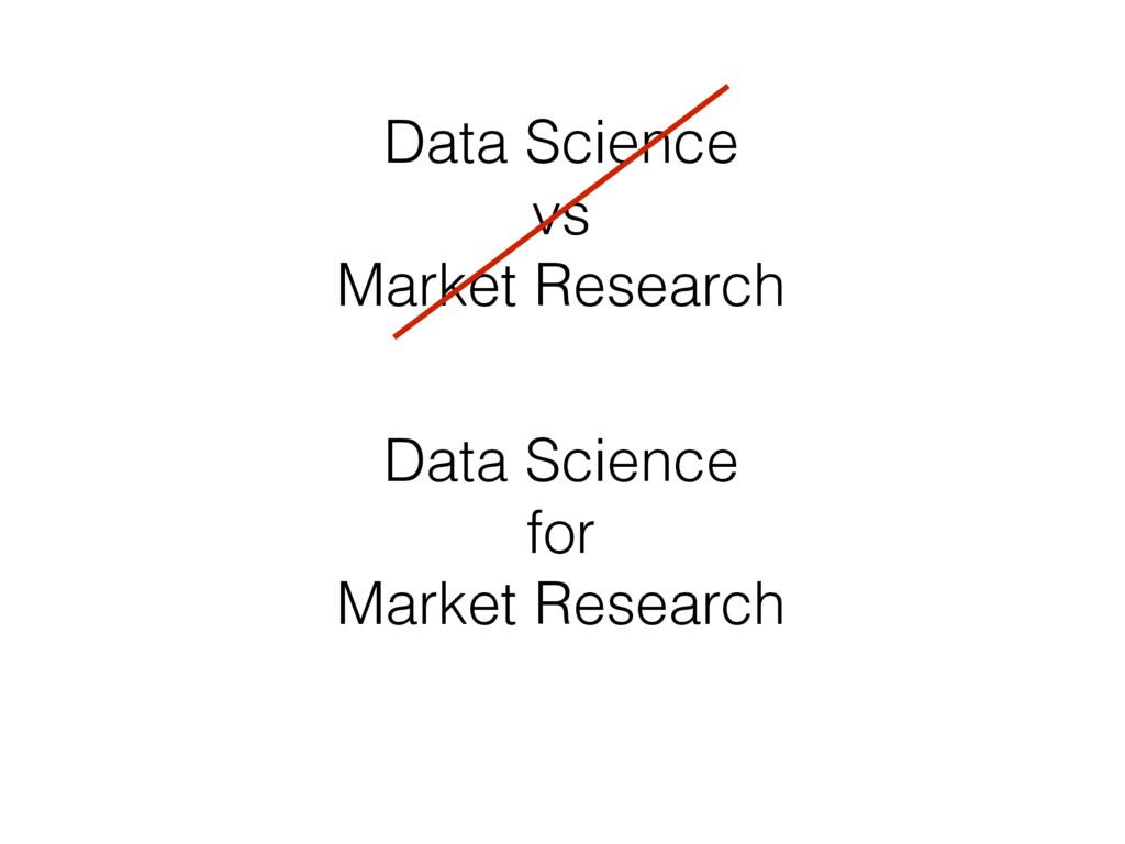 Data Science vs Market Research Data Science fo...