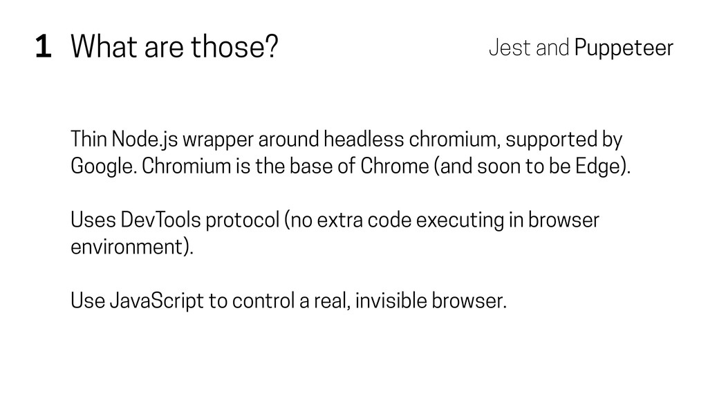 1 What are those? Thin Node.js wrapper around h...