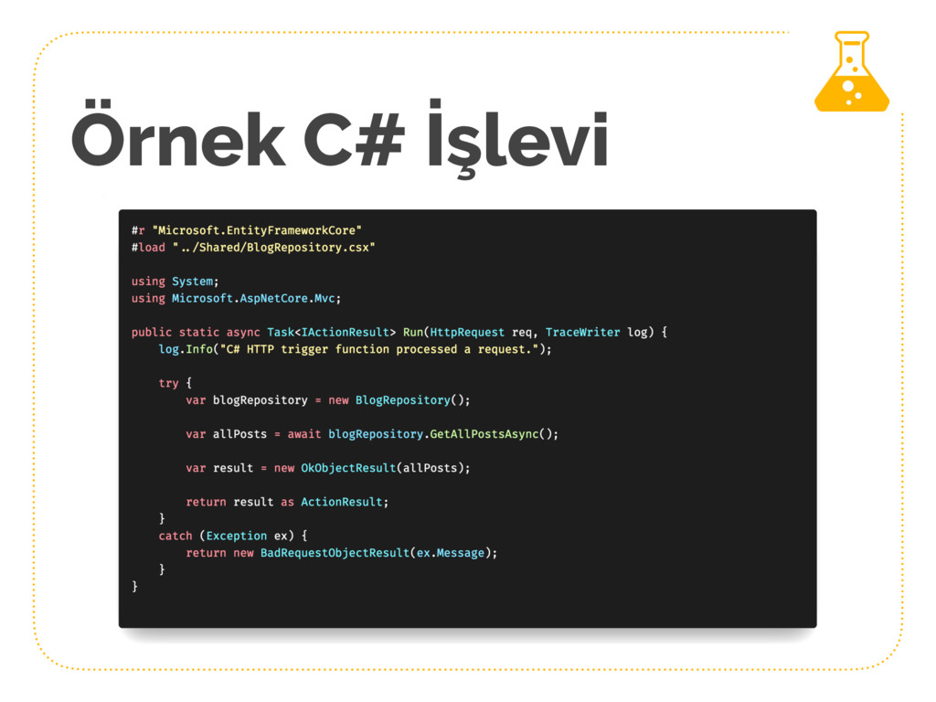 Örnek C# İşlevi