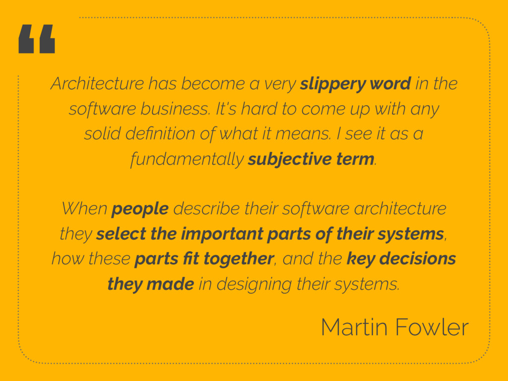 """Architecture has become a very slippery word i..."
