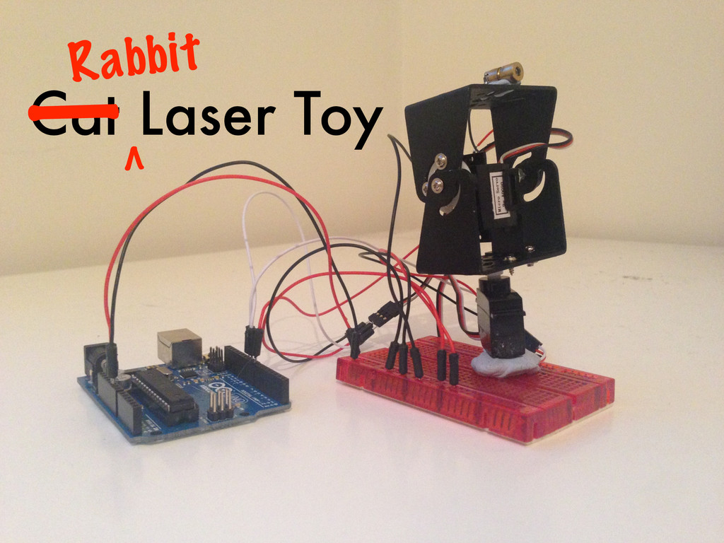 Cat Laser Toy Rabbit | v