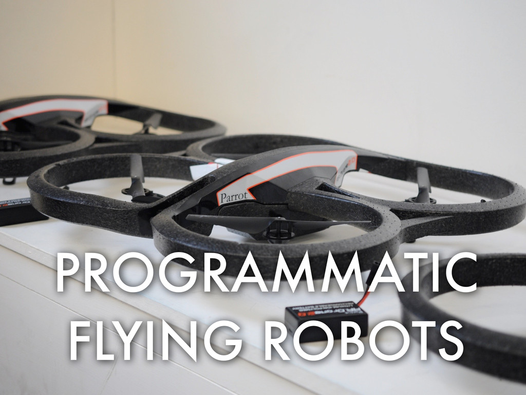 PROGRAMMATIC FLYING ROBOTS