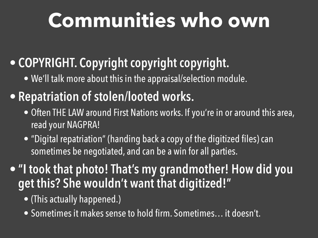 Communities who own • COPYRIGHT. Copyright copy...