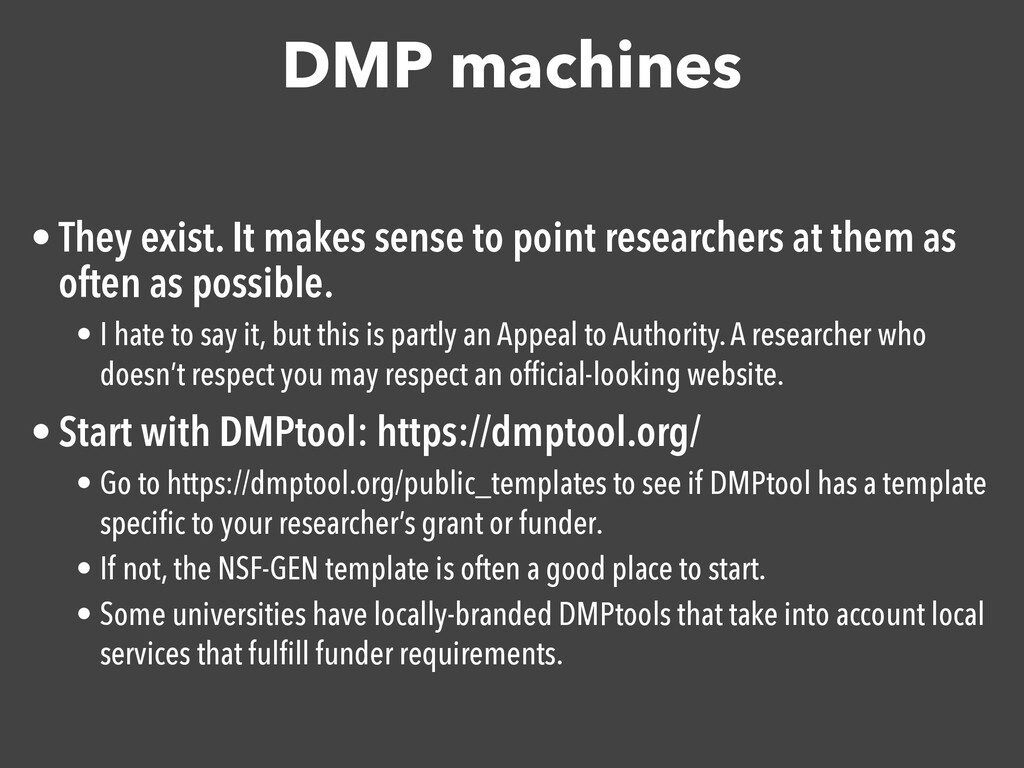 DMP machines • They exist. It makes sense to po...