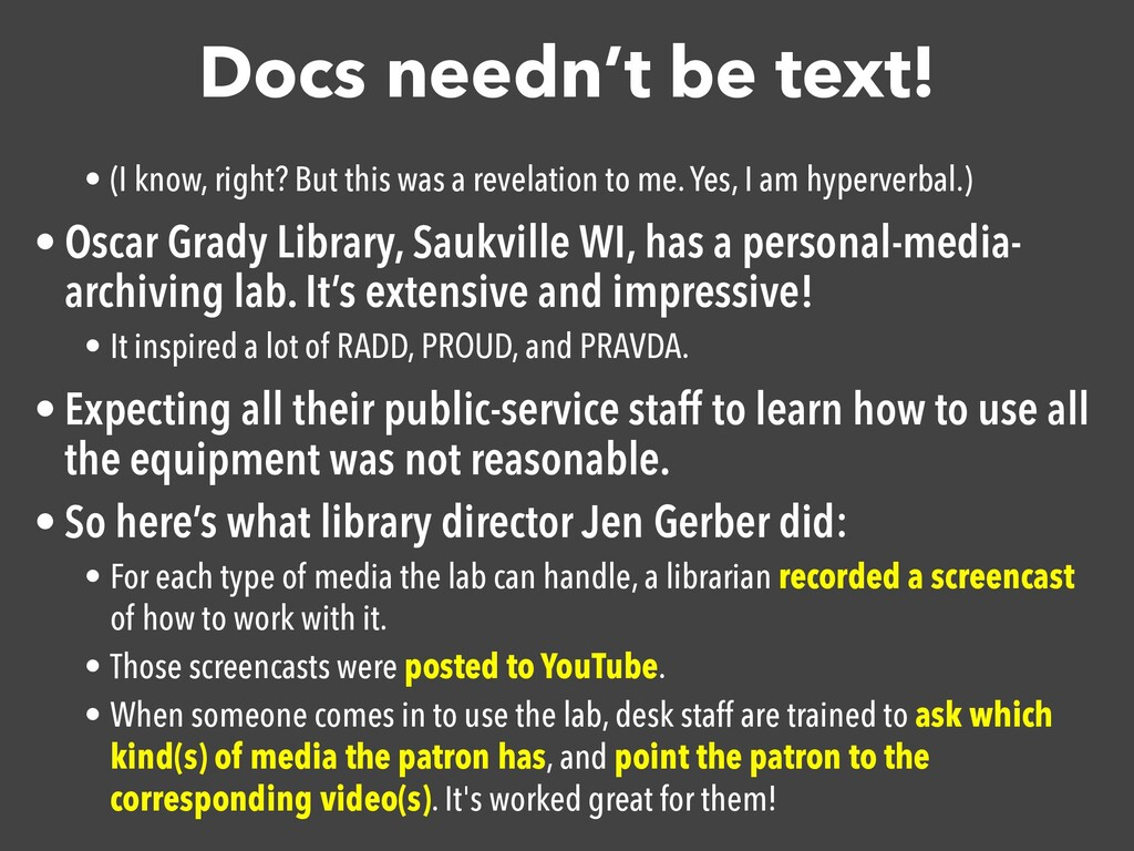 Docs needn't be text! • (I know, right? But thi...