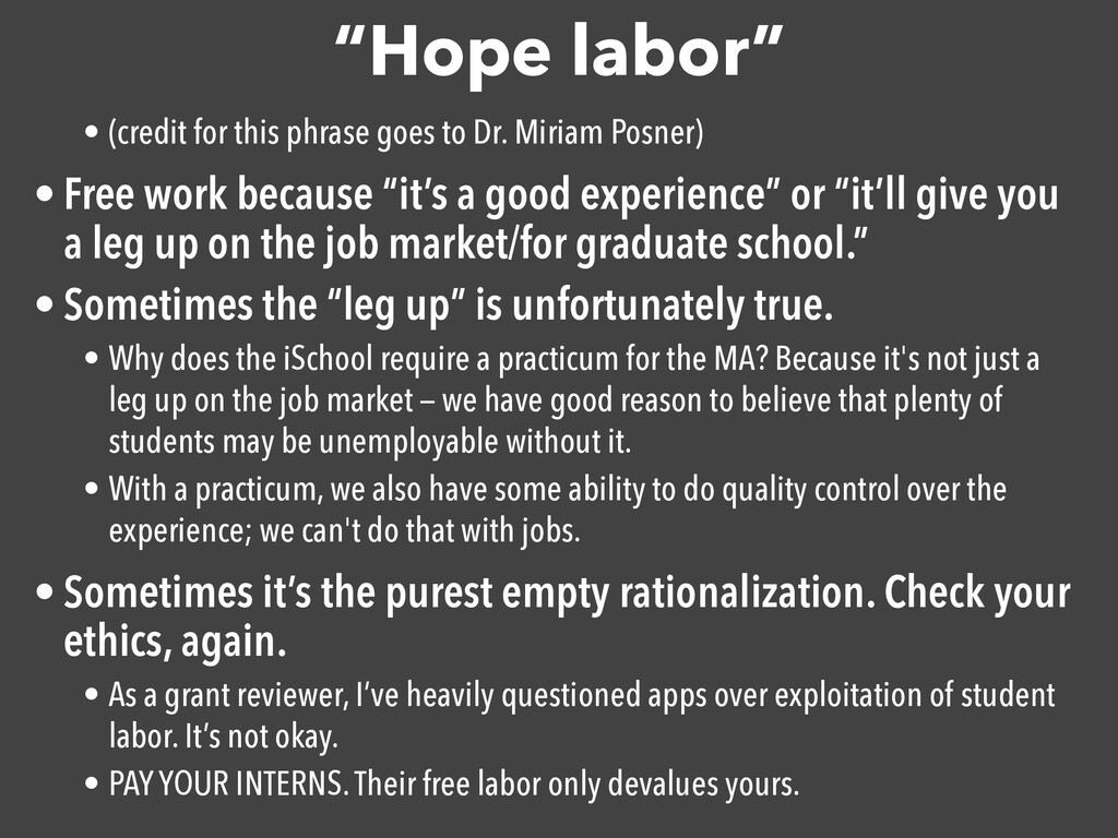 """Hope labor"" • (credit for this phrase goes to ..."