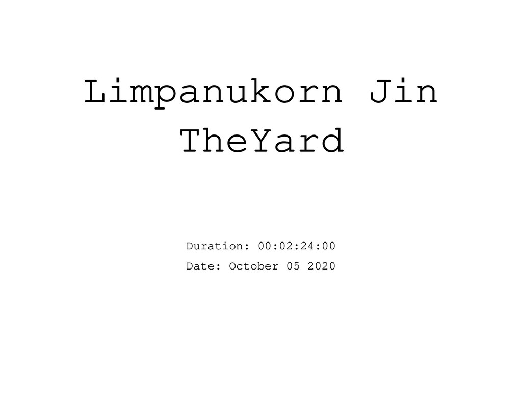 Limpanukorn Jin TheYard Duration: 00:02:24:00 D...