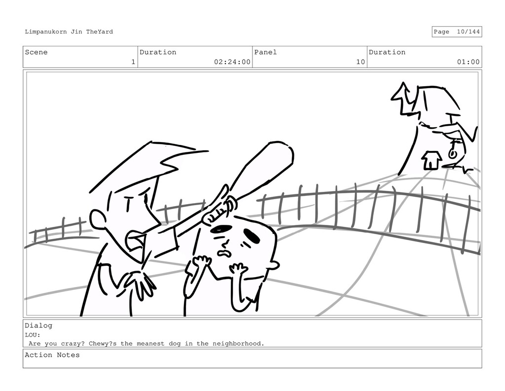 Scene 1 Duration 02:24:00 Panel 10 Duration 01:...