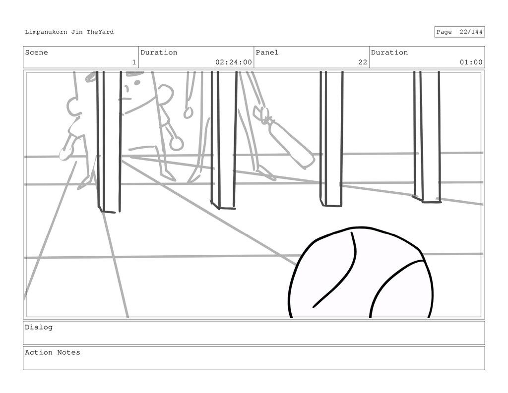 Scene 1 Duration 02:24:00 Panel 22 Duration 01:...