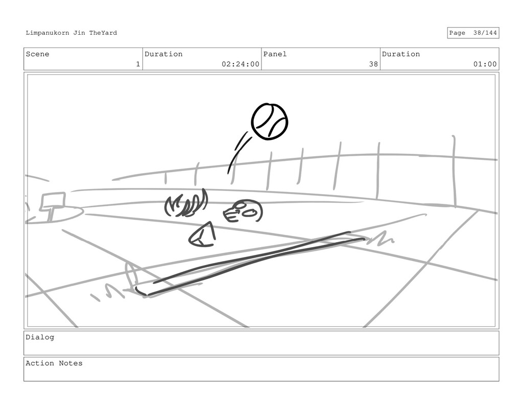 Scene 1 Duration 02:24:00 Panel 38 Duration 01:...