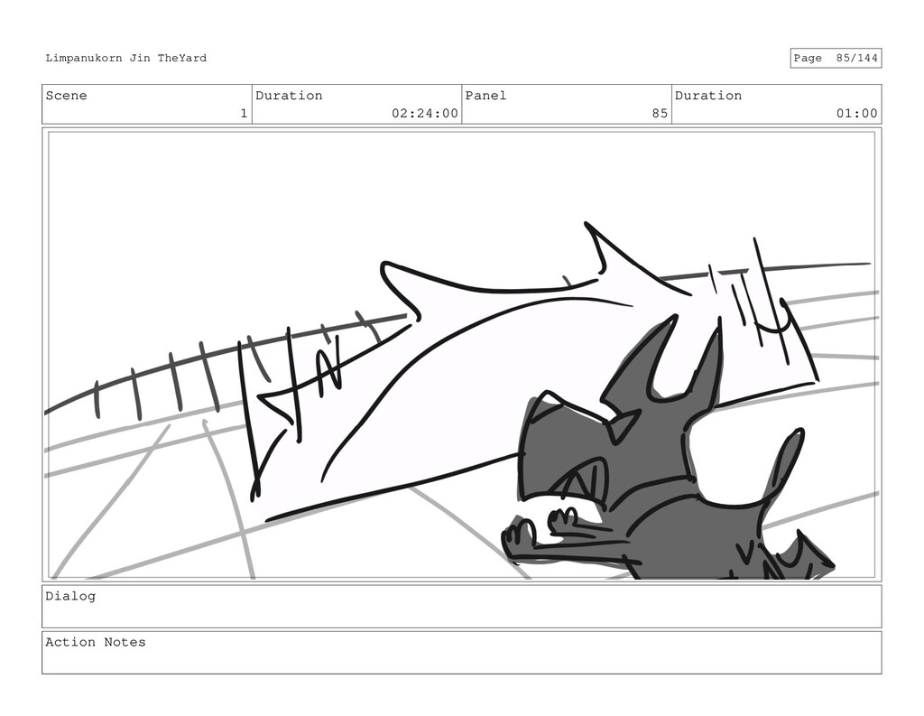 Scene 1 Duration 02:24:00 Panel 85 Duration 01:...