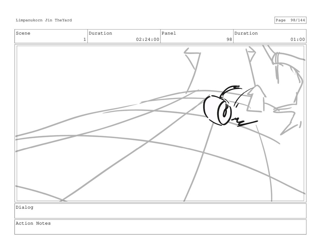 Scene 1 Duration 02:24:00 Panel 98 Duration 01:...