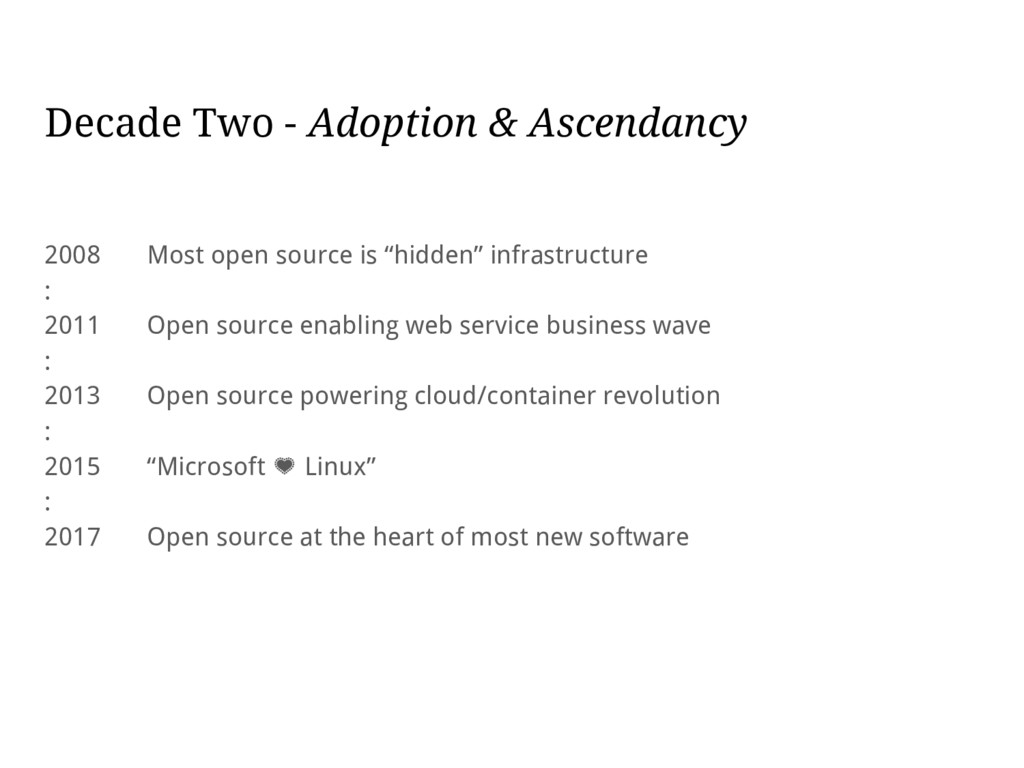 Decade Two - Adoption & Ascendancy 2008 Most op...