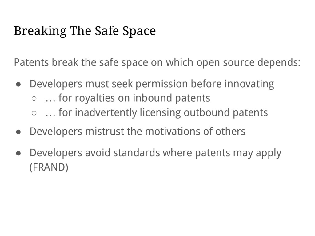 Breaking The Safe Space Patents break the safe ...