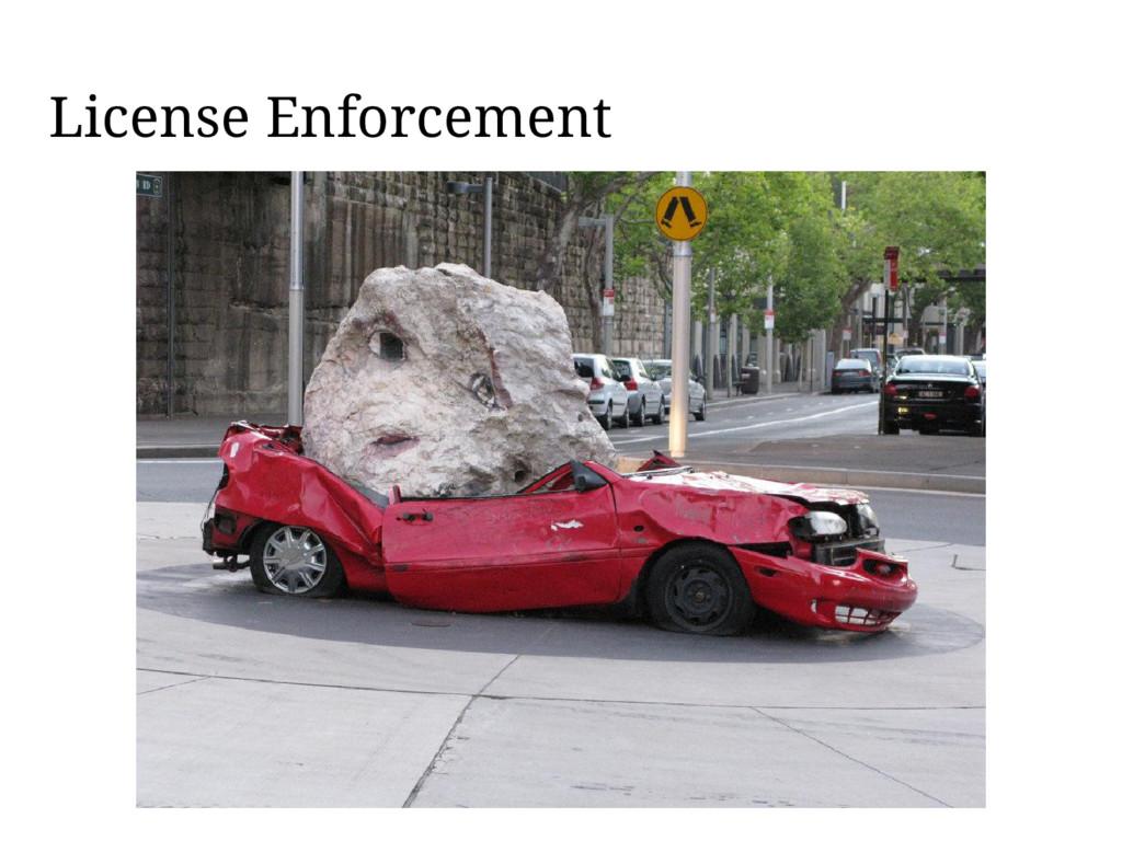 License Enforcement