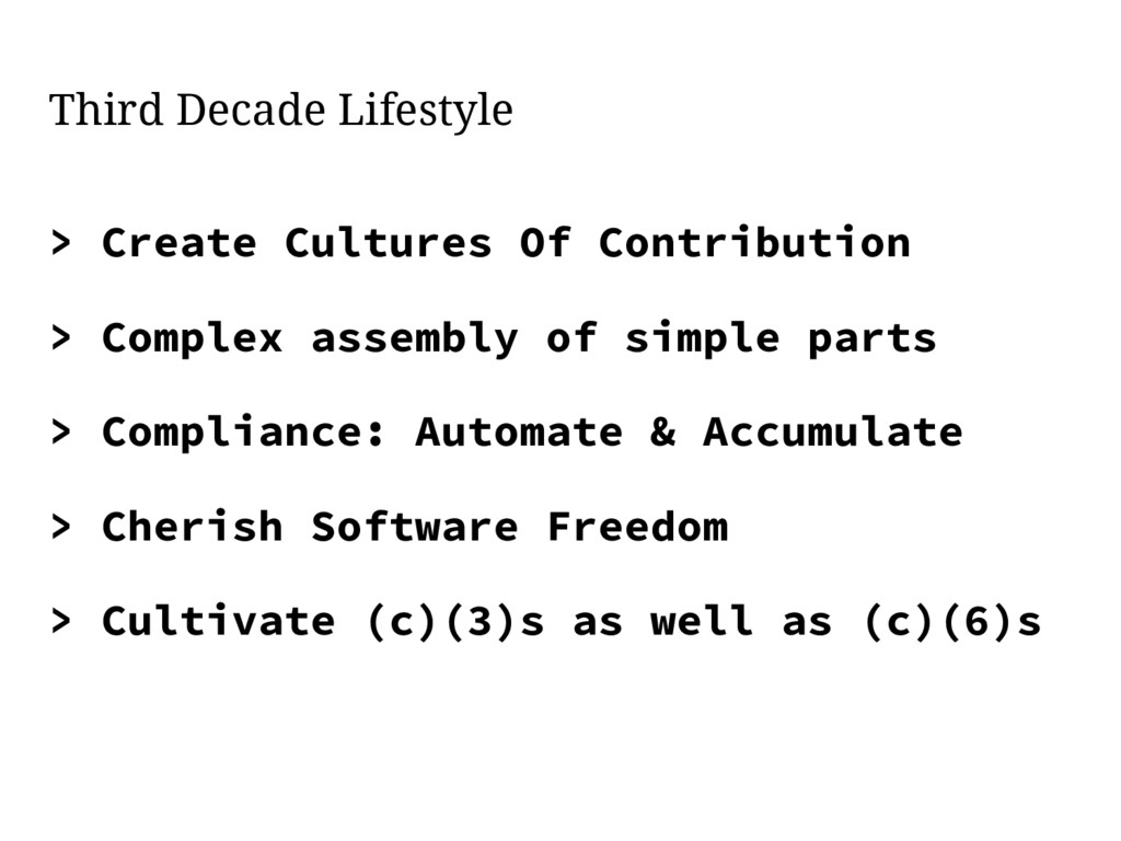 Third Decade Lifestyle > Create Cultures Of Con...
