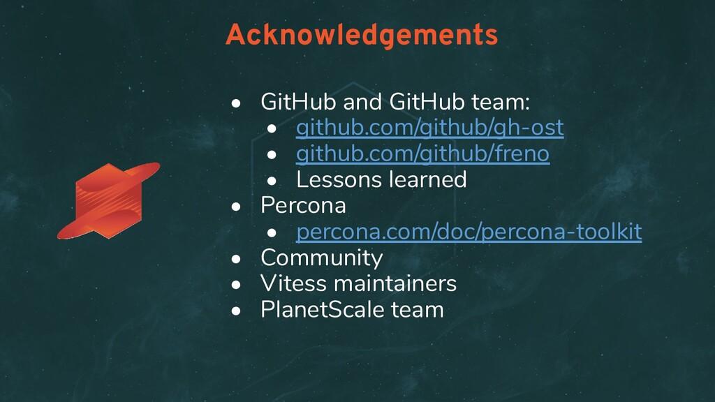 • GitHub and GitHub team: • github.com/github/g...