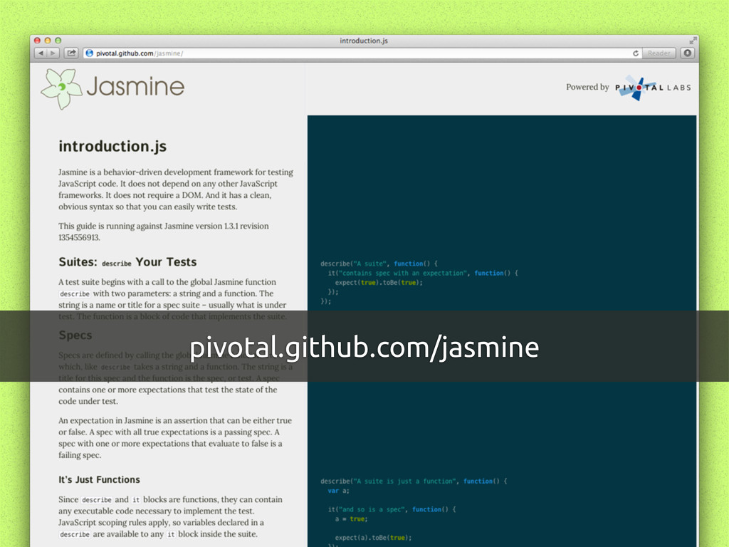 pivotal.github.com/jasmine