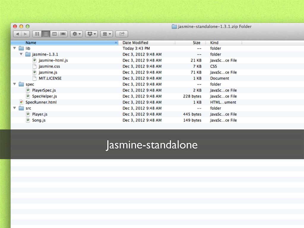 Jasmine-standalone