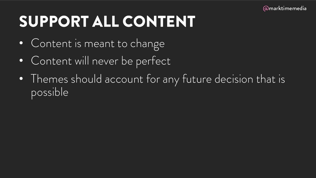 @marktimemedia SUPPORT ALL CONTENT • Content is...