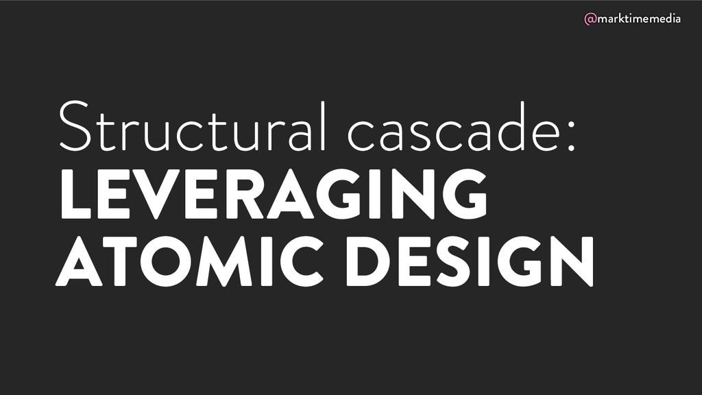 @marktimemedia Structural cascade: LEVERAGING A...