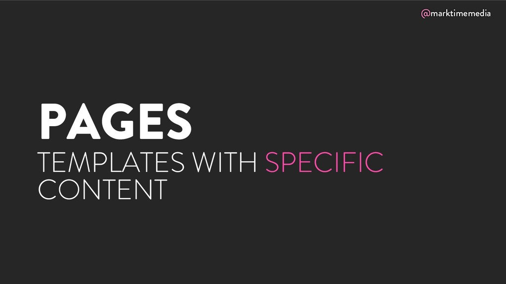 @marktimemedia PAGES TEMPLATES WITH SPECIFIC CO...