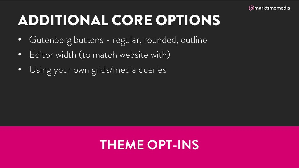 @marktimemedia ADDITIONAL CORE OPTIONS • Gutenb...