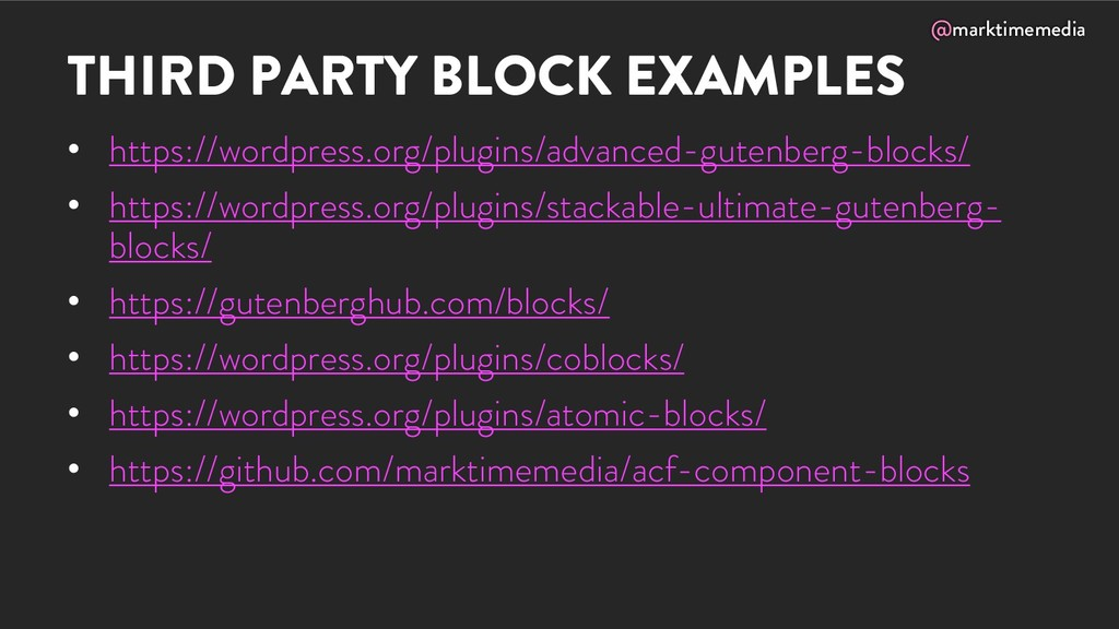 @marktimemedia THIRD PARTY BLOCK EXAMPLES • htt...
