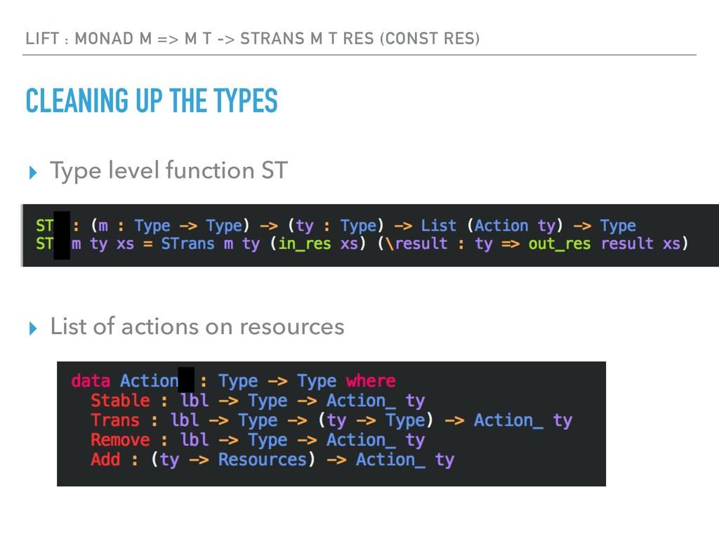 LIFT : MONAD M => M T -> STRANS M T RES (CONST ...