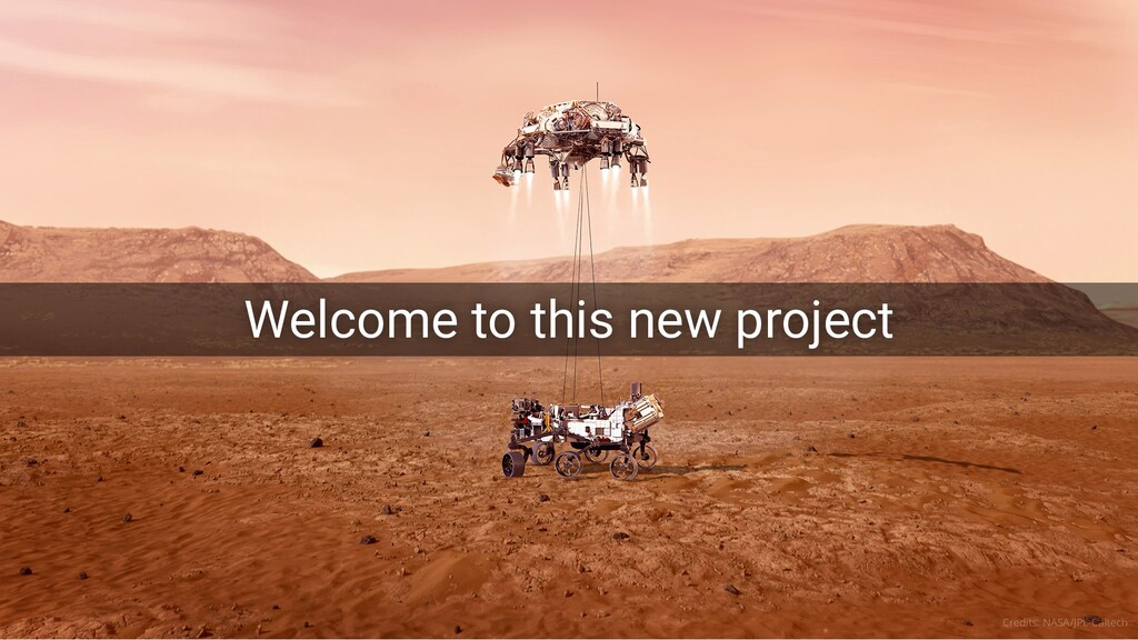 Welcome to this new project Welcome to this new...