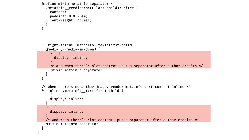@define-mixin metainfo-separator { .metainfo!__...