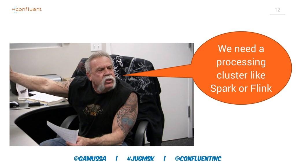 @gamussa | #jugmsk | @ConfluentINc 12 We need a...