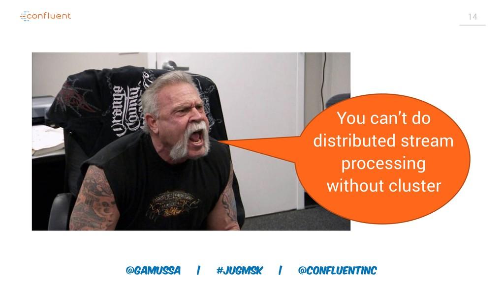 @gamussa | #jugmsk | @ConfluentINc 14 You can't...