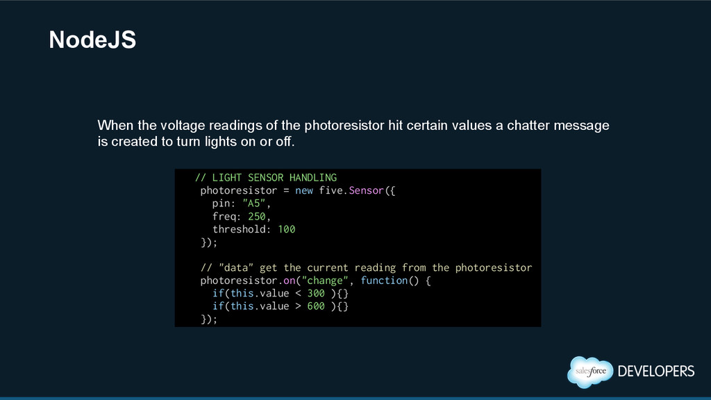 NodeJS // LIGHT SENSOR HANDLING photoresistor =...