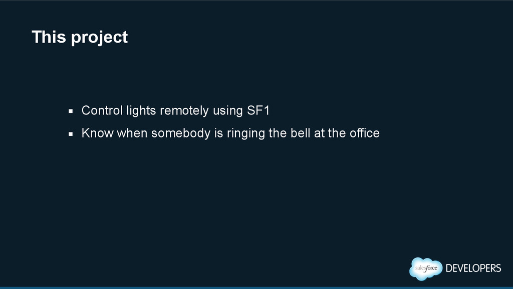 This project ▪ Control lights remotely using SF...