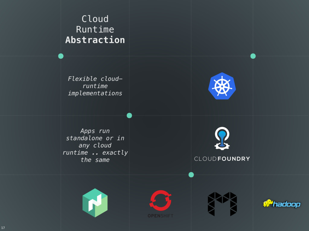 Cloud Runtime Abstraction Flexible cloud- runti...