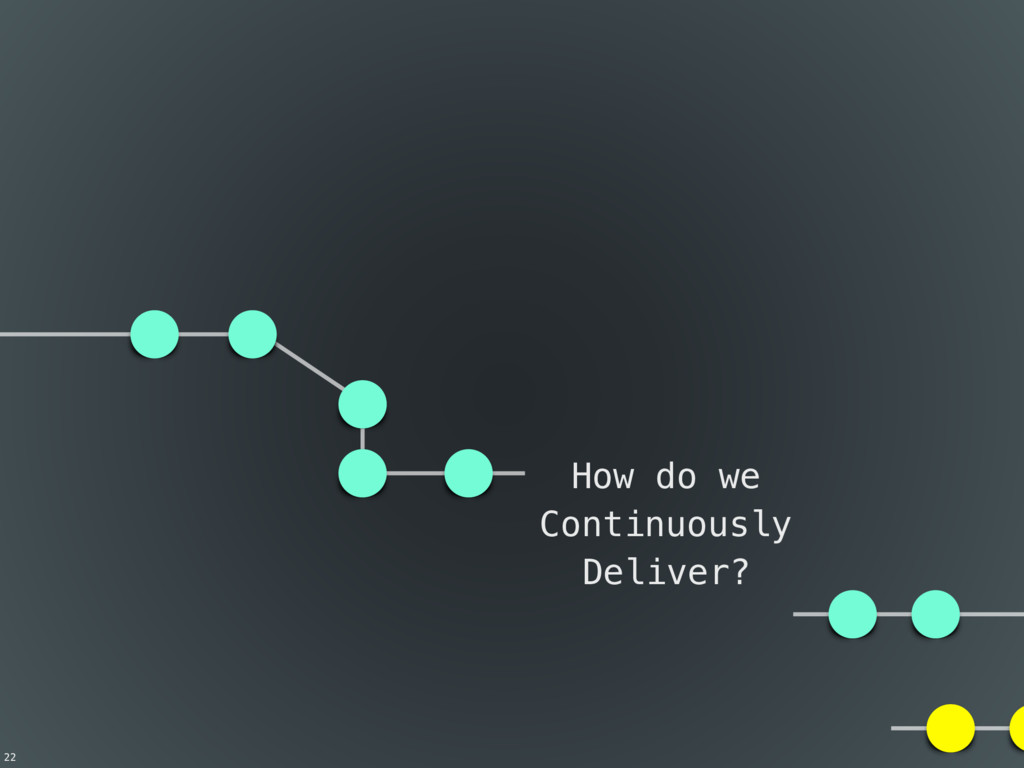22 How do we Continuously Deliver?